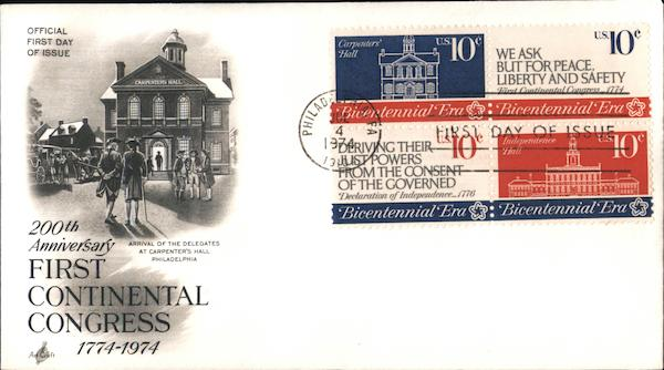 200th Anniversary First Continental Congress 1774-1974