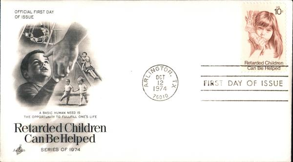 Retarded Children Can Be Helped Series of 1974 First Day Covers