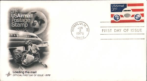 31¢ USAirmail Postage Stamp - Loading the Mail First Day Covers