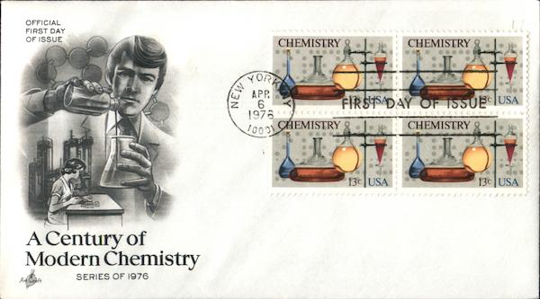 A Century of Modern Chemistry - Series of 1976 Block of Stamps