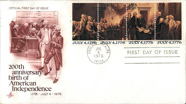 200th Anniversary - Birth of American Independence Block of Stamps