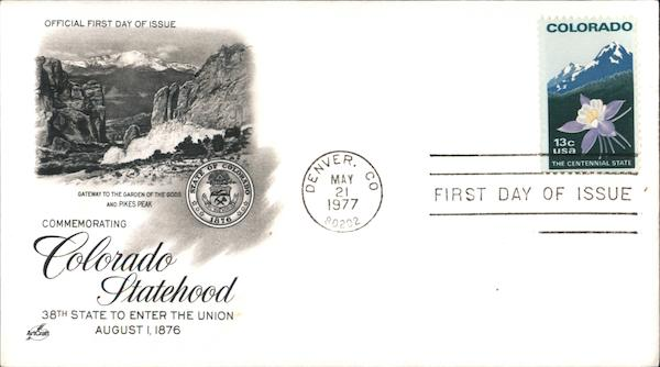 Colorado Statehood First Day Covers