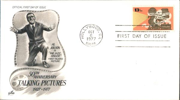 50th Anniversary Talking Pictures 1927-1977 First Day Covers