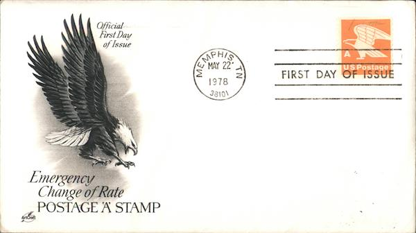 Emergency Change of Rate Postage 'A' Stamp First Day Covers
