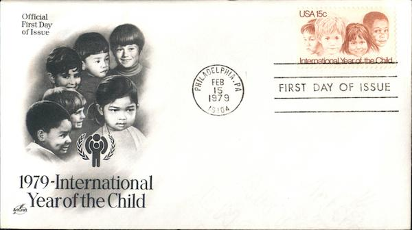 1979 International Year of the Child First Day Covers