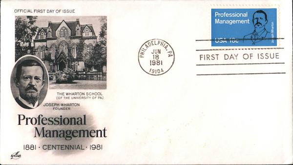Professional Management - 1881 Centennial 1981 First Day Covers
