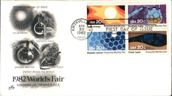 1982 World's Fair, Knoxville Tennessee First Day Covers