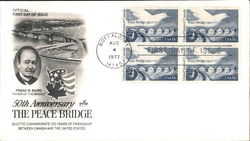 50th Anniversary The Peace Bridge Block of Stamps