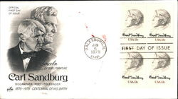 Carl Sandburg - Biographer - Poet - Folksinger 1878-1978 Block of Stamps