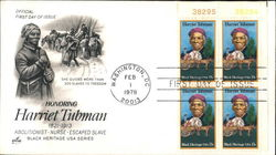 Honoring Harriet Tubman 1821-1913 - Black Heritage USA Series Block of Stamps