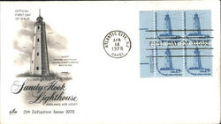 Sandy Hook Lighthouse Block of Stamps