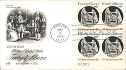 200th Year France-United States Treaty of Alliance - Ratified May 4 1778 Block of Stamps