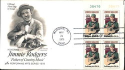 "Honoring Jimmie Rodgers ""Father of Country Music"" Performing Arts Series - 1978 Block of Stamps"