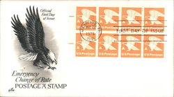 Emergency Change of Rate Postage 'A' Stamp Block of Stamps