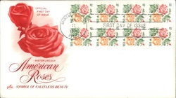 American Roses Block of Stamps