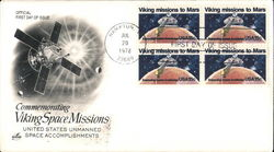 Commemorating Viking Space Missions - United States Unmanned Space Accomplishments Block of Stamps