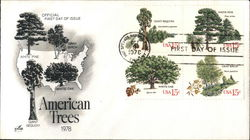 American Trees Block of Stamps