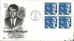 Honoring Robert F. Kennedy 1925-1968 Block of Stamps