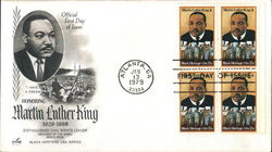 Honoring Martin Luther King 1929-1968 - Black Heritage USA Series Block of Stamps