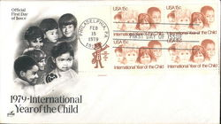 1979 International Year of the Child Block of Stamps