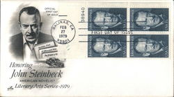 Honoring John Steinbeck - American Novelist - Literary Arts Series 1979 Block of Stamps
