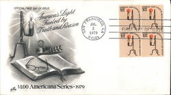 America's Light Fueled by Truth and Reason Block of Stamps