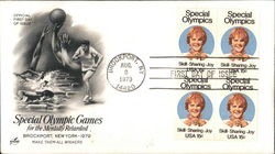 Special Olympic Games for the Mentally Retarded Brockport, New York 1979 Block of Stamps