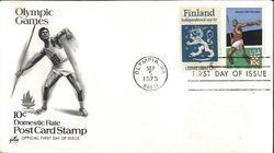 Olympic Games 10¢ Domestic Rate Post Card Stamp