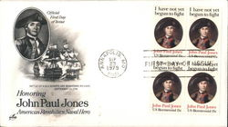 Honoring John Paul Jones - American Revolution Naval Hero Block of Stamps
