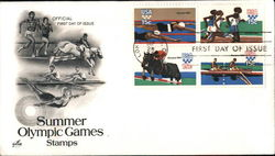 Summer Olympic Games Stamps Block of Stamps