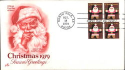 Christmas 1979 - Season's Greetings Block of Stamps