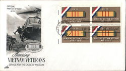Honoring Vietnam Veterans - Service for the Cause of Freedom Block of Stamps