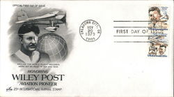 Honoring Wiley Post - Aviation Pioneer - 25¢ International Airmail Stamp Block of Stamps