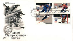 Winter Olympic Games Stamps Block of Stamps