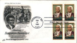 Honoring Benjamin Banneker - Noted Mathematician and Astronomer - Black Heritage USA Series 1980 Block of Stamps