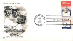 National Letter Writing Week Block of Stamps