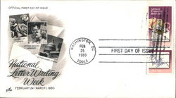 National Letter Writing Week - February 24 - March 1, 1980 Block of Stamps