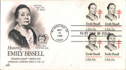 Honoring Emily Bissell - Crusader Against Tuberculosis Block of Stamps
