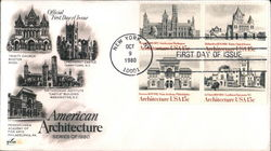 American Architecture Series of 1980 Block of Stamps