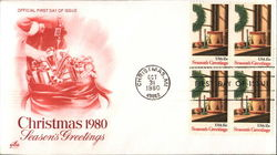 Christmas 1980 - Season's Greetings Block of Stamps