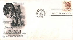 Honoring Sequoyah Inventor of an Entire Written Alphabet 19¢ Postal Card Stamp