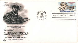 Honoring Glenn Curtiss 1878-1930 Pioneer Aviation Series 35¢ Airmail Stamp