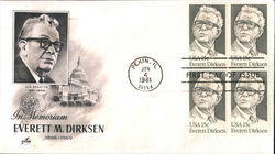 In Memoriam Everett M. Dirksen 1896-1969 U. S. Senator 1951-1969 Block of Stamps
