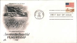 America the Beautiful Flag Stamp 1981