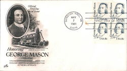 Honoring George Mason 1725-1792 Block of Stamps