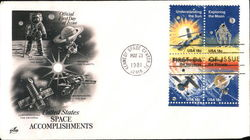 United Space Space Accomplishments Block of Stamps