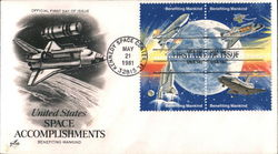 United States Space Accomplishments - Benefiting Mankind Block of Stamps
