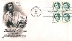 Rachel L. Carson, Science Writer and Biologist Block of Stamps