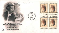 Edna St. Vincent Millay Block of Stamps