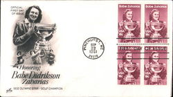 Honoring Babe Didrikson Zaharias Block of Stamps